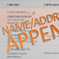 New Call Tracking Feature – Name/Address Append AKA Reverse Lookup